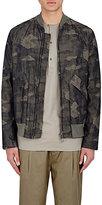 Helmut Lang Men's Camouflage Bomber Jacket-GREEN