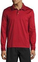 Salvatore Ferragamo Long-Sleeve Gancio Polo Shirt, Rosso Ferr (Red)
