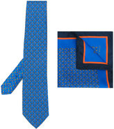 Etro hare print tie and pocket square