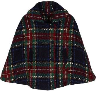 Lapin House Plaid Hooded Cape Jacket