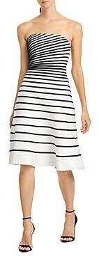 Halston Color-Blocked Striped Dress