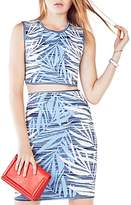 BCBGMAXAZRIA Jaelynne Ink Washed Palm Crop Top