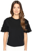 See by Chloe Cotton Embellished Sleeve Blouse Women's Blouse