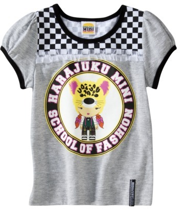 T&G Harajuku Mini for Target® Toddler Girls' School of Fashion Tee - Grey