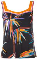 Emilio Pucci bird of paradise print top - women - Silk/Viscose - 40