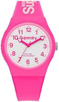 Superdry 'Urban' Quartz Plastic and Silicone Dress Watch, Color:Pink (Model: SYG164PW)