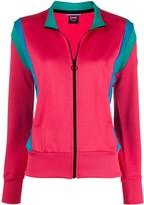 Colmar contrast-panel zip-through sweatshirt