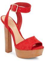 Schutz Reeba Suede Platform Sandals
