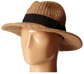 San Diego Hat Company CTH4117 Woven Yarn Stitch Fedora with Grosgrain Bow