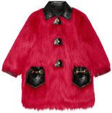 Gucci Faux Kidassia fur coat