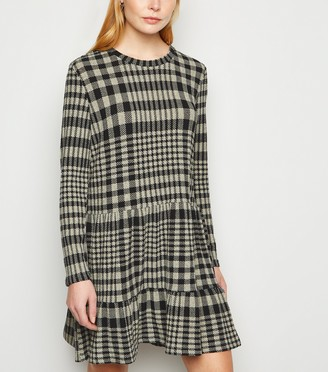 New Look JDY Teal Check Smock Dress
