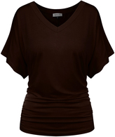BB Brown Flutter-Sleeve Tee - Women & Plus