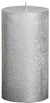 Rustic 103667640381 Metallic Pillar Candle, Paraffin Wax, Silver