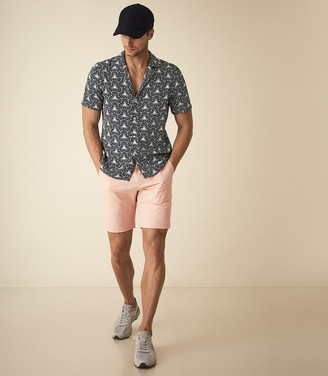 Reiss Wicket - Casual Chino Shorts in Dusky Pink