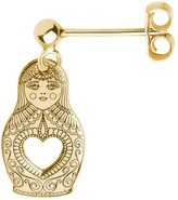Cartergore Gold Russian Doll Single Short Drop Earring