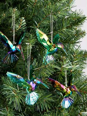 Gisela Graham Hummingbird Christmas Tree Decorations (4 Pack)