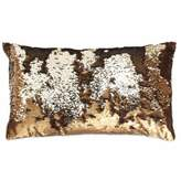 Thro by Marlo Lorenz Melody Mermaid Sequin Oblong Throw Pillow in Copper