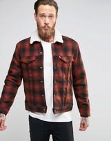 Levis Levi's Type 3 Plaid Borg Lined Jacket