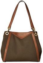 MICHAEL Michael Kors Raven Large Pocket Shoulder Tote (Olive) Tote Handbags