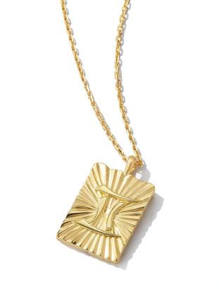 David Webb Gemini Zodiac Pendant Necklace in 18k Gold