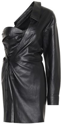 RtA Lana one-shoulder leather minidress
