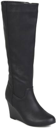Journee Collection Langly Wedge Heel Tall Boot