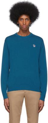 Paul Smith Blue Zebra Crewneck Sweater