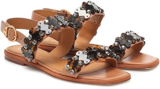 Tory Burch Delaney embellished leather sandals