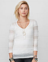 Denim & Supply Ralph Lauren Stretch Lace Scoopneck Henley