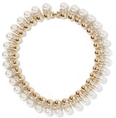 Kenneth Jay Lane Gold-plated, Crystal And Faux Pearl Necklace - one size