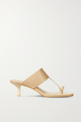 Cult Gaia Yvette Leather Mules - Beige