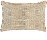 Lori Shinal Netted-Front Linen-Cotton Pillow-GOLD