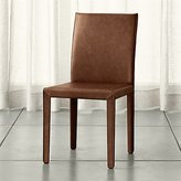 Crate & Barrel Folio Sienna Top-Grain Leather Dining Chair