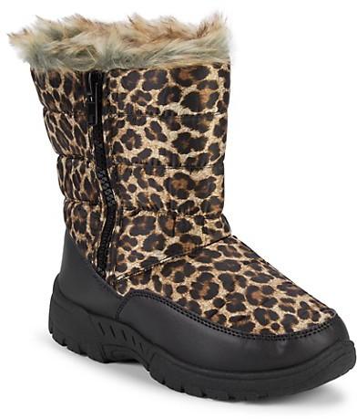 girls leopard boots