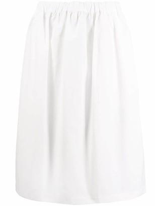 Plan C Elasticated-Waist Midi Skirt