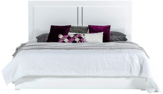 VIG Furniture Modrest Nicla Italian Modern White Bed, Eastern King