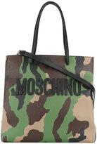 Moschino camouflage logo tote