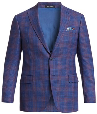Saks Fifth Avenue COLLECTION Check Wool Blazer