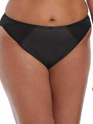 Elomi Women's Plus Size Charley Mid-Rise Brazilian Brief