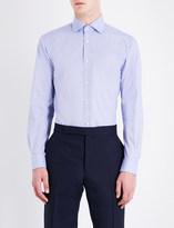 Ralph Lauren Purple Label Aston regular-fit geometric pattern cotton shirt