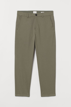 H&M Slim Fit Cropped Chinos - Green