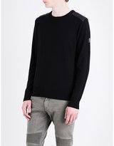 Belstaff Quilted-shoulders Wool Jumper