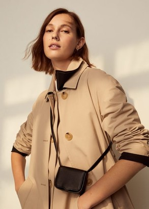 MANGO Mini cross-body bag black - One size - Women