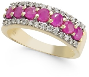 Macy's Certified Ruby (1-1/20 ct. t.w.) & Diamond (1/4 ct. t.w.) Ring in 14k Gold