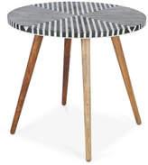 Bone Inlay Mango Wood Danish Bar Table