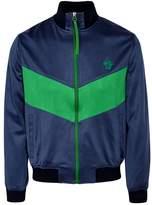 Versace Navy Zipped Satin Sweatshirt