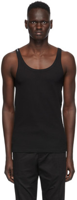 Dolce & Gabbana Black Ribbed Tank Top