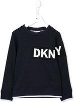 DKNY logo print sweatshirt - kids - Cotton/Polyester - 6 yrs