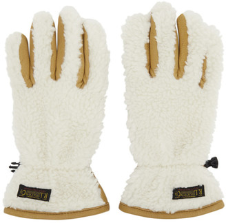 Polo Ralph Lauren Tan and Off-White Sherpa Outdoor Touch Gloves