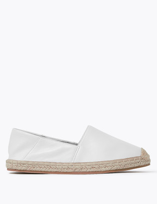 Marks and Spencer Leather Flat Espadrilles